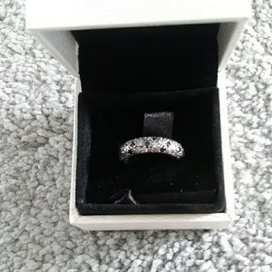 Nwt. PANDORA cosmic blue and silver ring